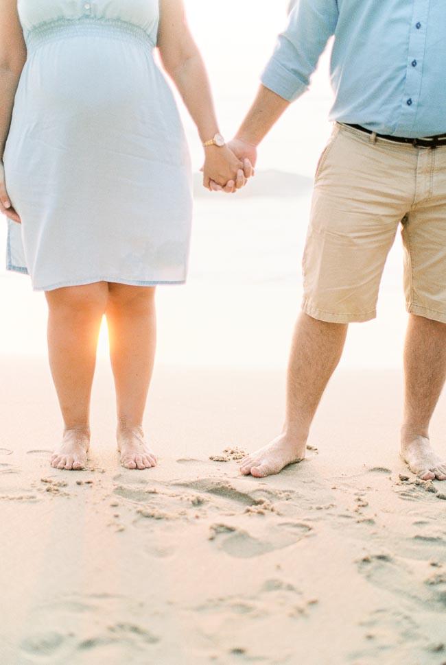 Pregnancy at Adraga beach
